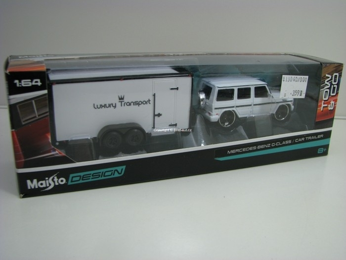 Mercedes-Benz G-Class s přívěsem Luxury Transport 1:64 Maisto